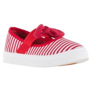 NEW!Oomphies Girls Emma Canvas Slip On with Bow